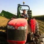 Le boss sur son tracteur
